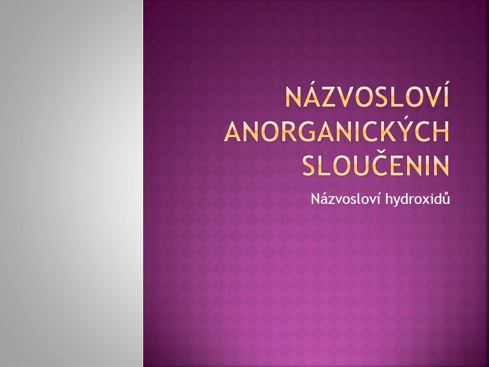 Názvosloví anorganických sloučenin