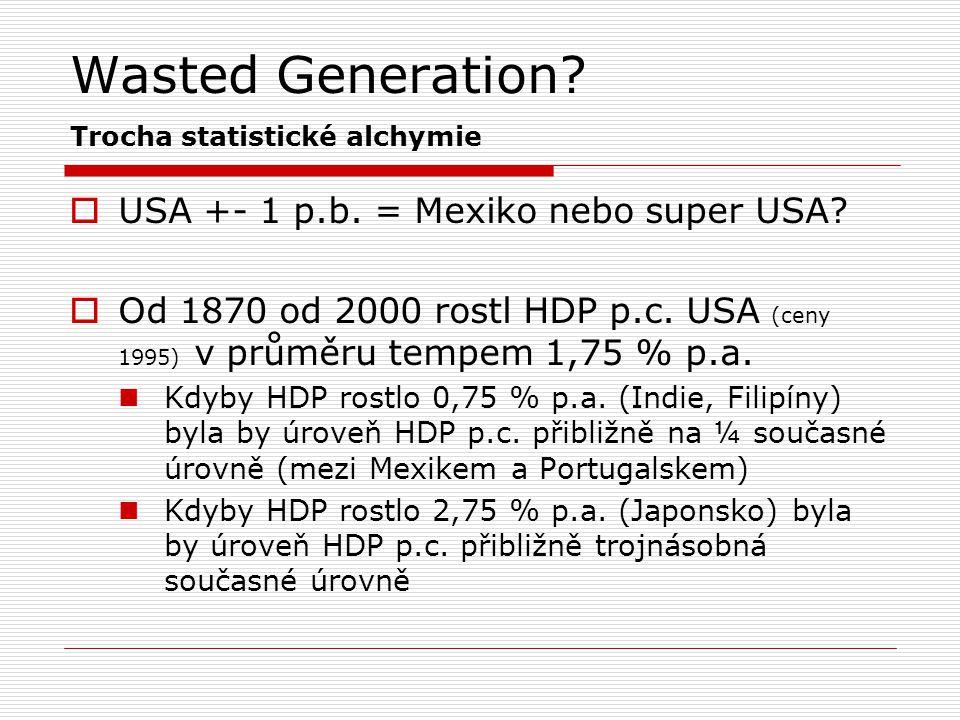 Wasted Generation Trocha statistické alchymie