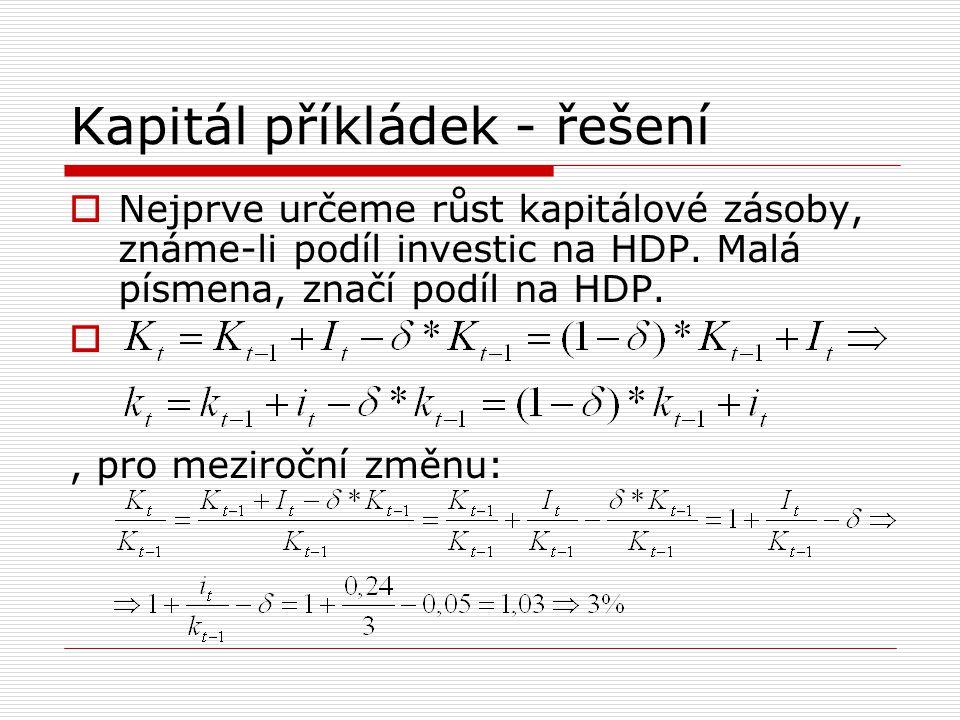 Kapitál příkládek - řešení