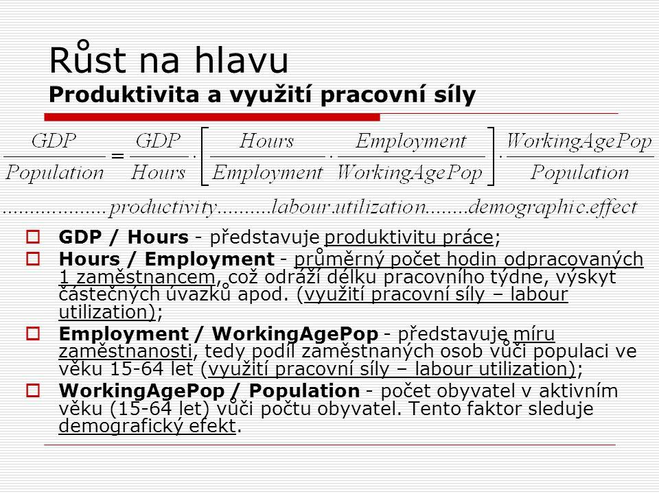 Růst na hlavu Produktivita a využití pracovní síly