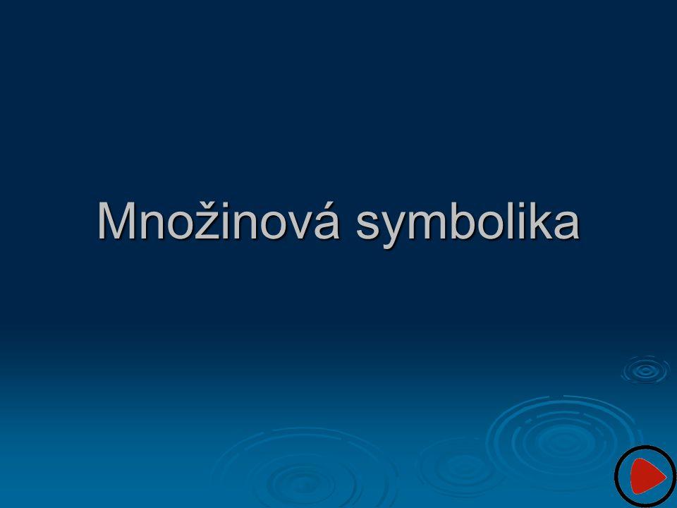 Množinová symbolika