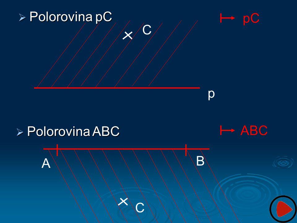 Polorovina pC pC C p ABC Polorovina ABC B A C