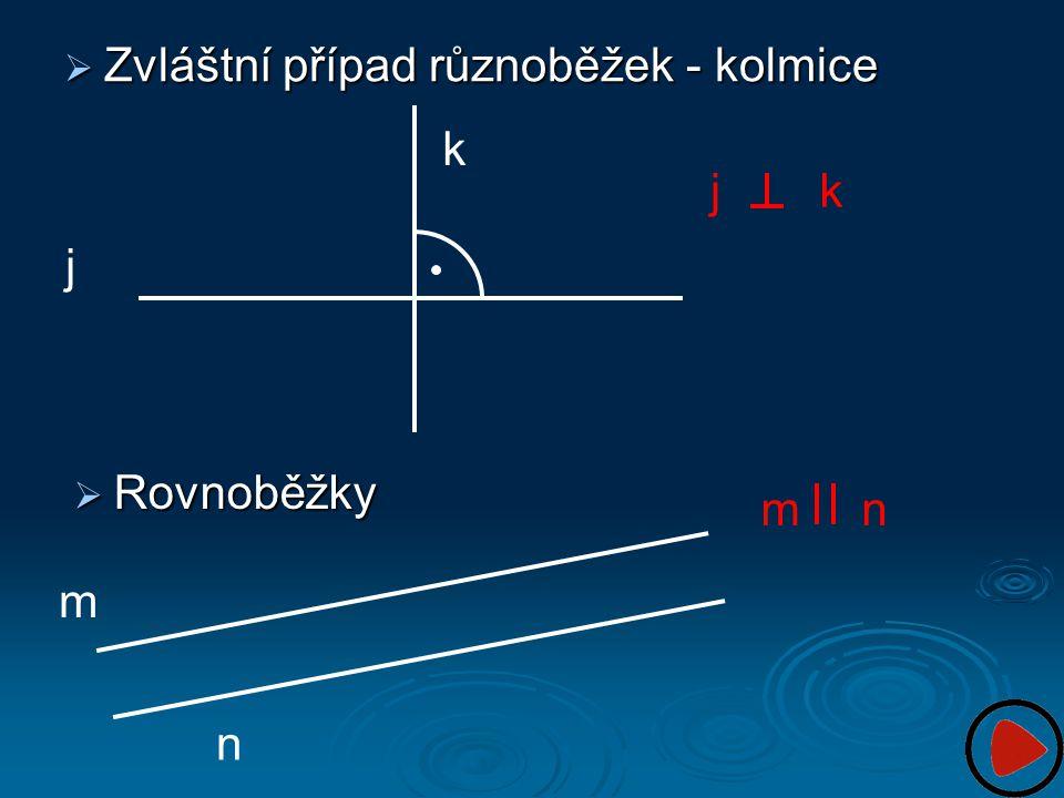 Zvláštní případ různoběžek - kolmice