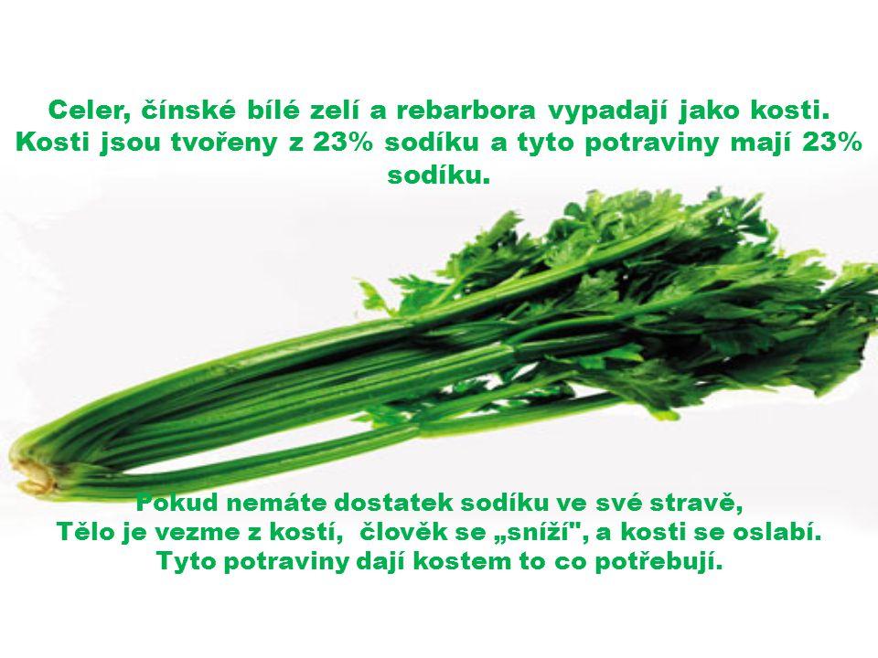 Celer, čínské bílé zelí a rebarbora vypadají jako kosti.