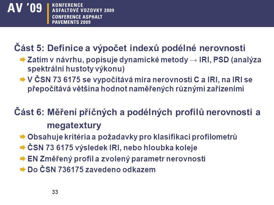 Část 5: Definice a výpočet indexů podélné nerovnosti