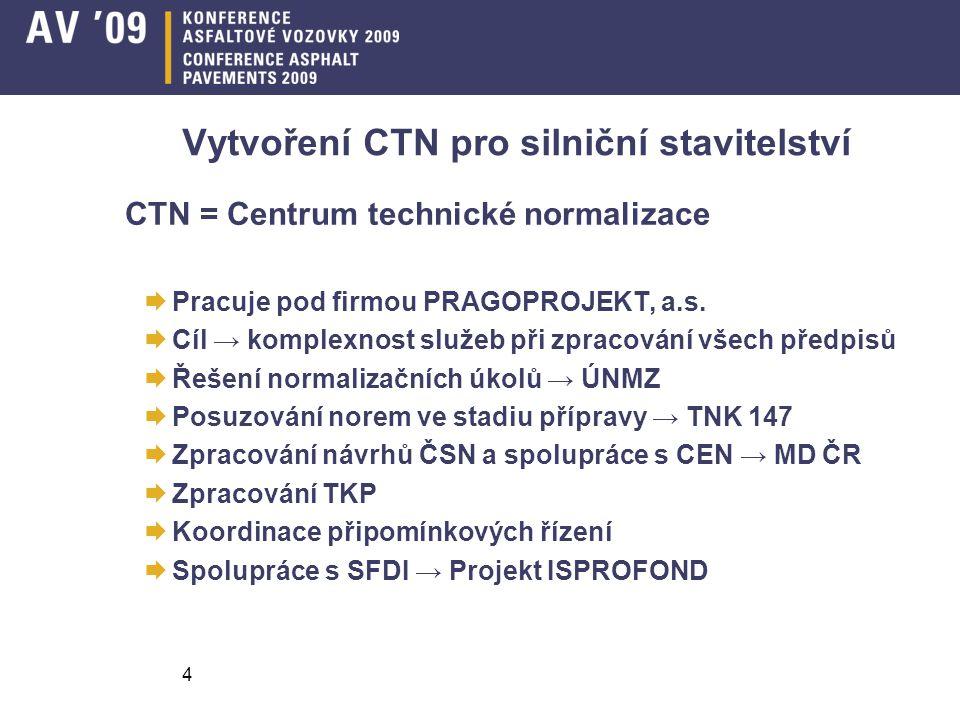 Vytvoření CTN pro silniční stavitelství