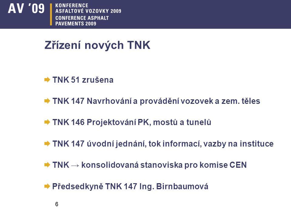 Zřízení nových TNK TNK 51 zrušena