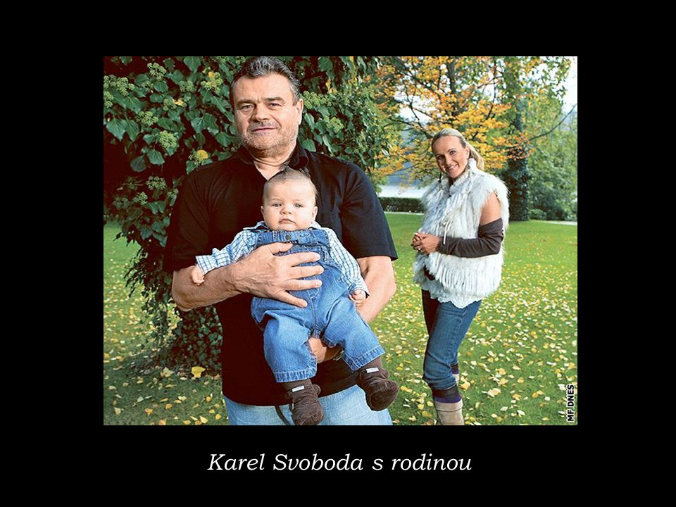 Karel Svoboda s rodinou