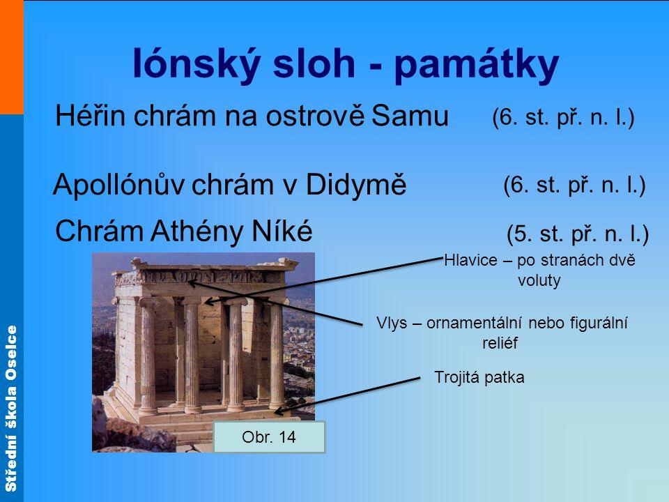 Iónský sloh - památky Héřin chrám na ostrově Samu