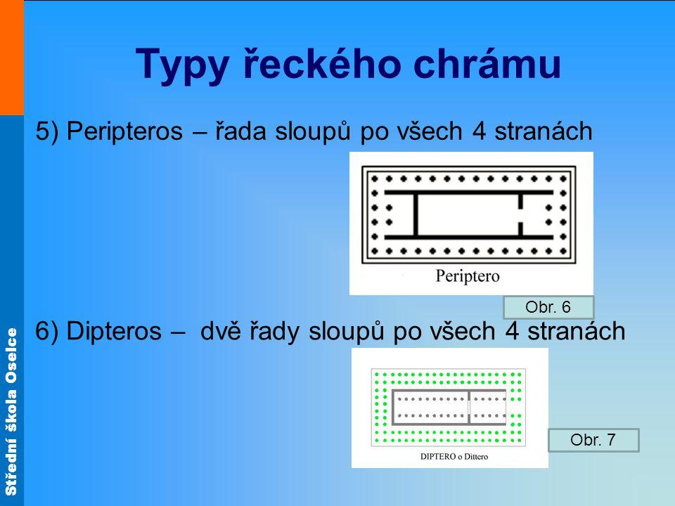 Typy řeckého chrámu 5) Peripteros – řada sloupů po všech 4 stranách