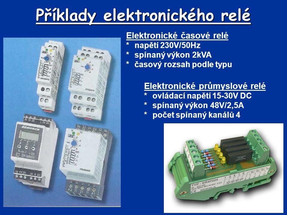 Příklady elektronického relé