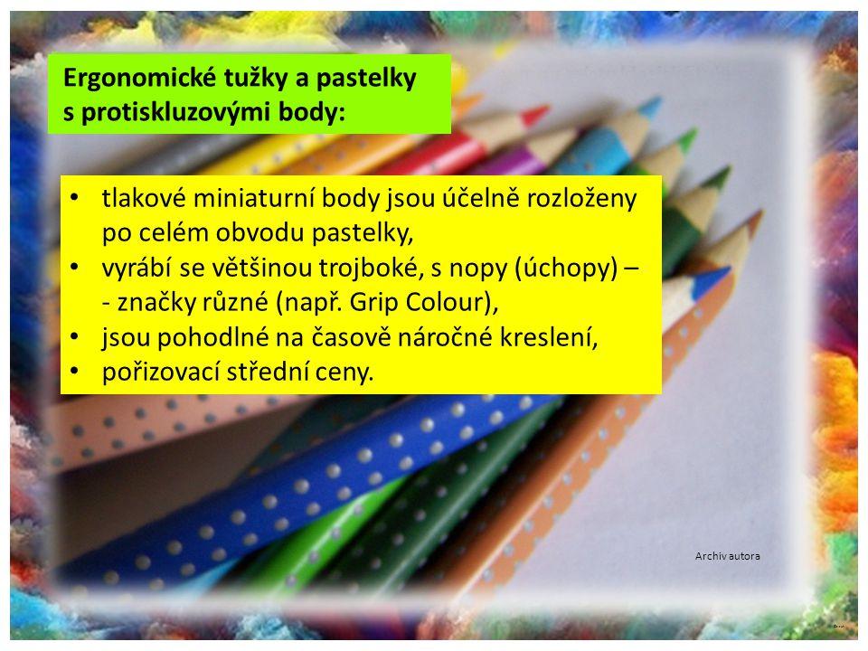 Ergonomické tužky a pastelky s protiskluzovými body: Rozmazávací tužky