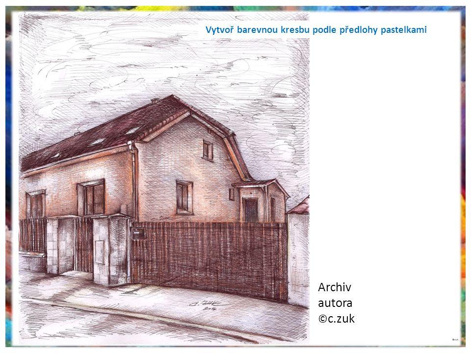 Archiv autora ©c.zuk Vytvoř barevnou kresbu podle předlohy pastelkami