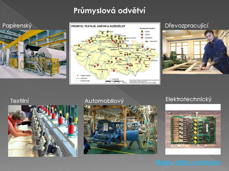 Průmyslová odvětví Papírenský Dřevozpracující Elektrotechnický