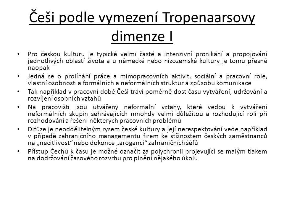 Češi podle vymezení Tropenaarsovy dimenze I