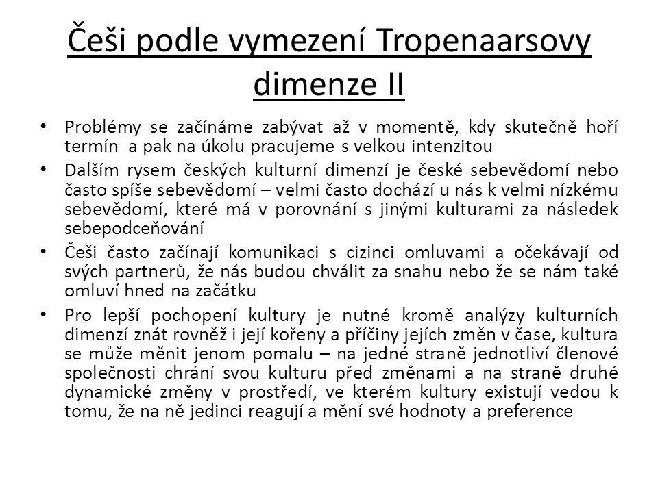 Češi podle vymezení Tropenaarsovy dimenze II