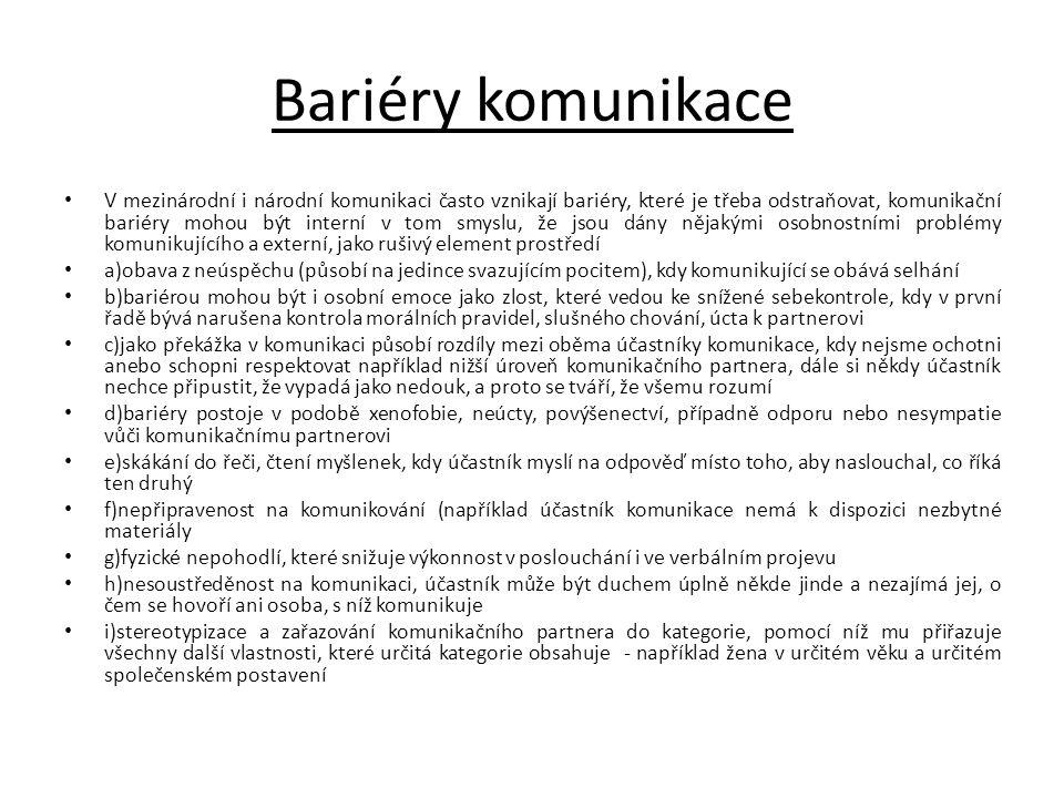 Bariéry komunikace