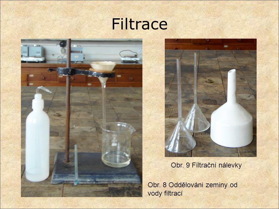 Filtrace Obr. 9 Filtrační nálevky