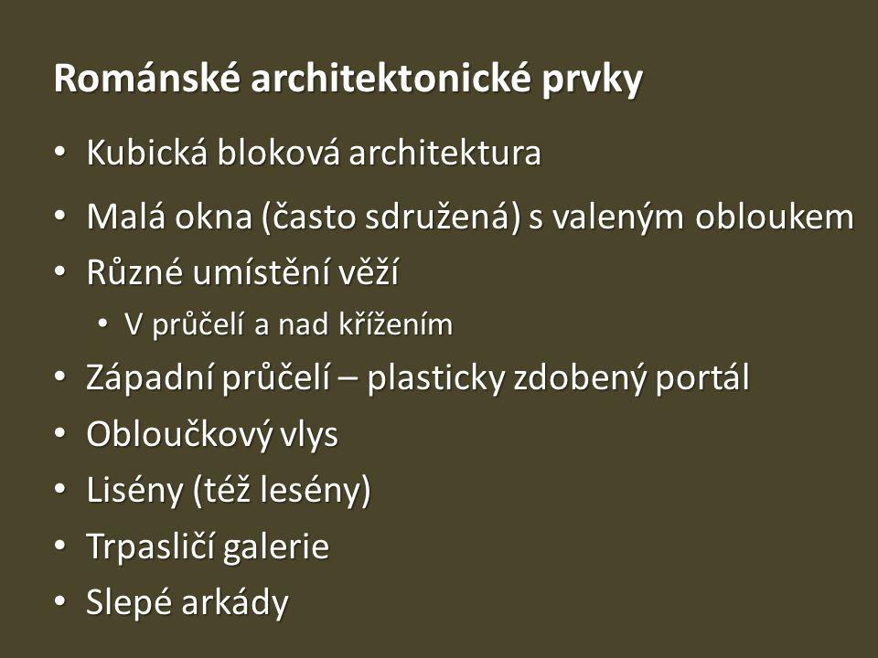 Románské architektonické prvky