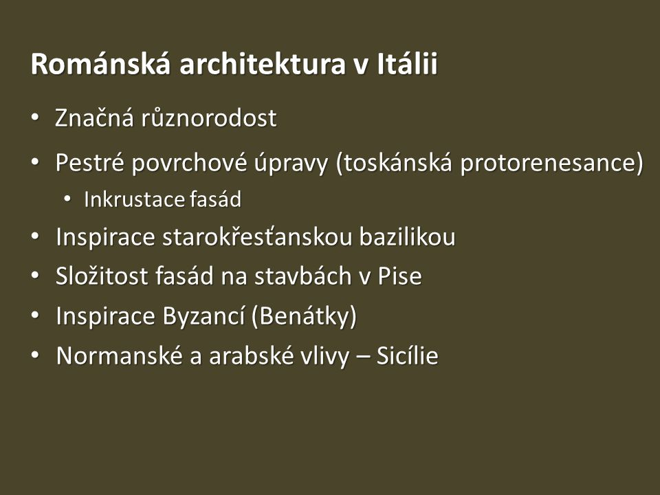 Románská architektura v Itálii