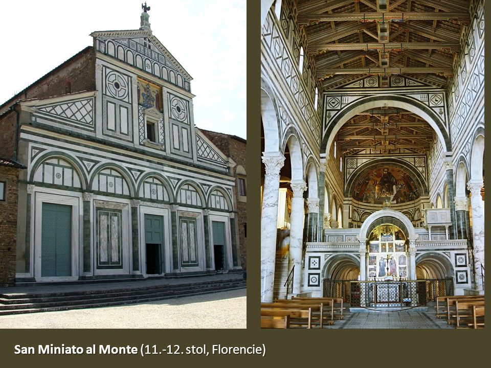 San Miniato al Monte (11.-12. stol, Florencie)