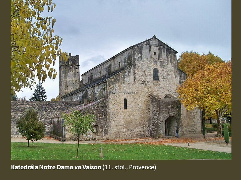 Katedrála Notre Dame ve Vaison (11. stol., Provence)
