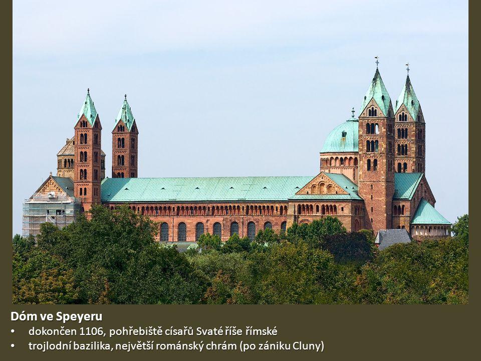 Dóm ve Speyeru dokončen 1106, pohřebiště císařů Svaté říše římské
