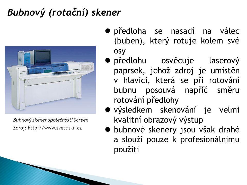 Bubnový (rotační) skener