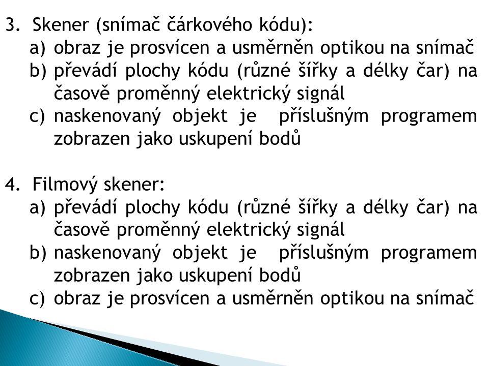 Skener (snímač čárkového kódu):