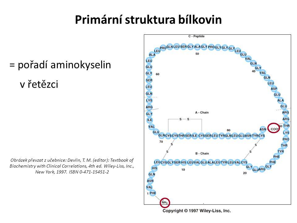 Primární struktura bílkovin