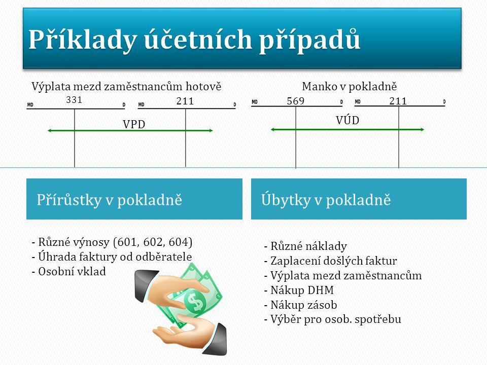 Příklady účetních případů