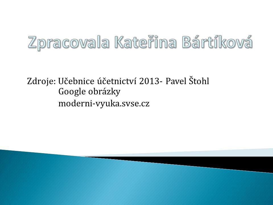 Zpracovala Kateřina Bártíková