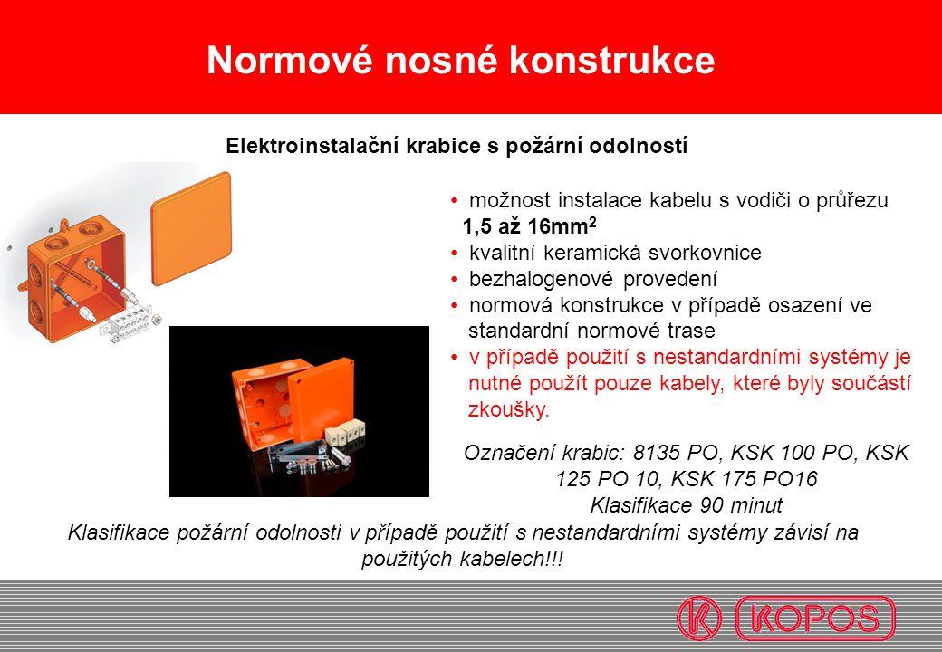Elektroinstalační krabice s požární odolností