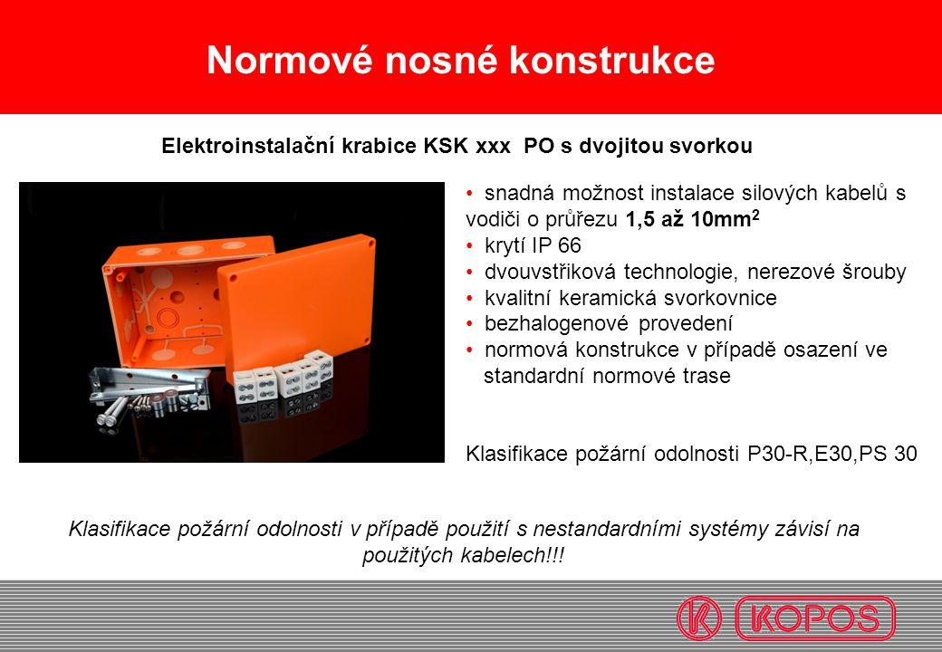 Elektroinstalační krabice KSK xxx PO s dvojitou svorkou