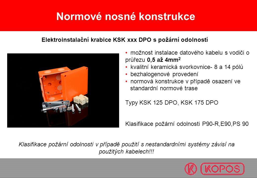 Elektroinstalační krabice KSK xxx DPO s požární odolností