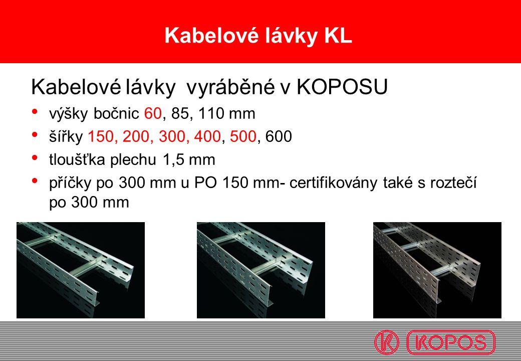 Kabelové lávky vyráběné v KOPOSU