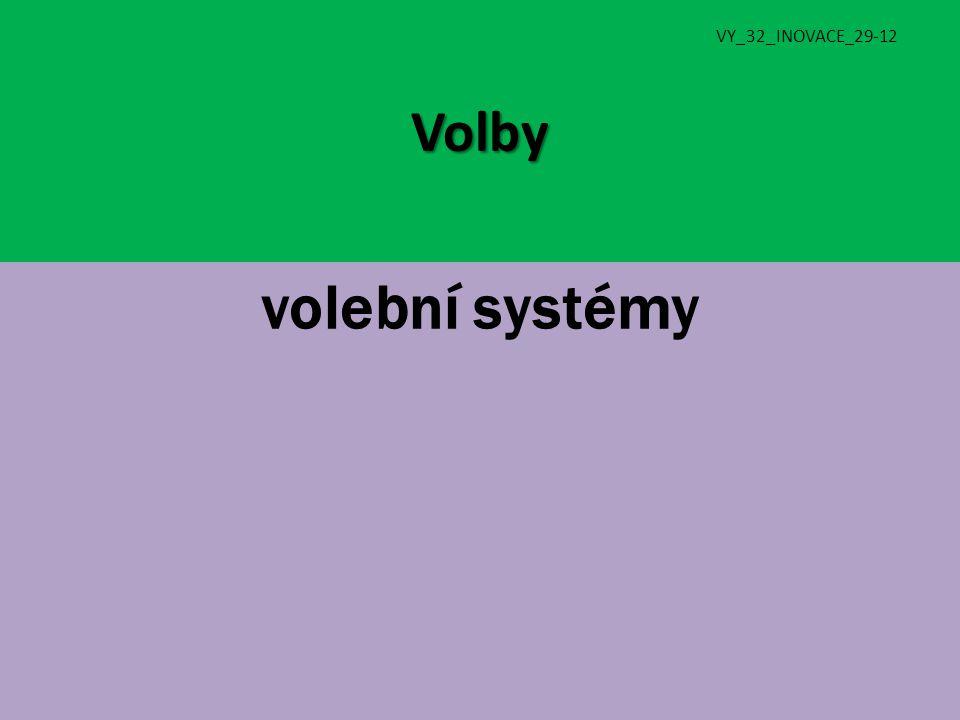 Volby VY_32_INOVACE_29-12 volební systémy