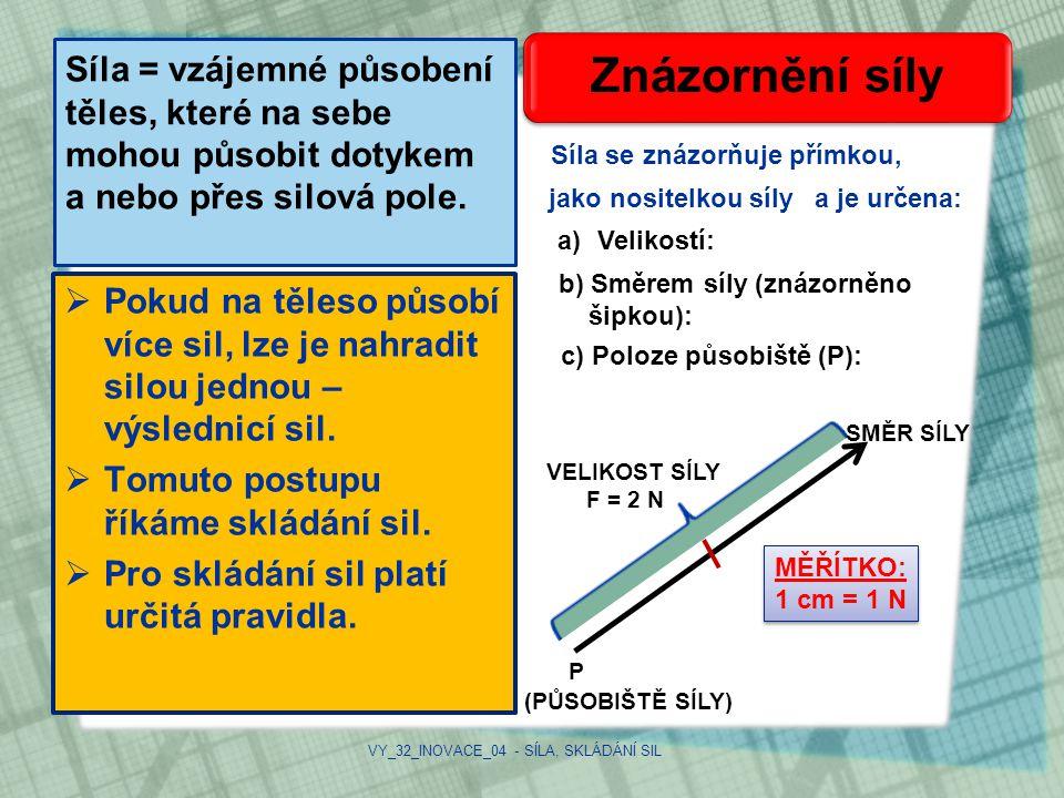 VY_32_INOVACE_04 - SÍLA, SKLÁDÁNÍ SIL