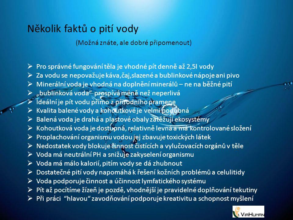 Několik faktů o pití vody