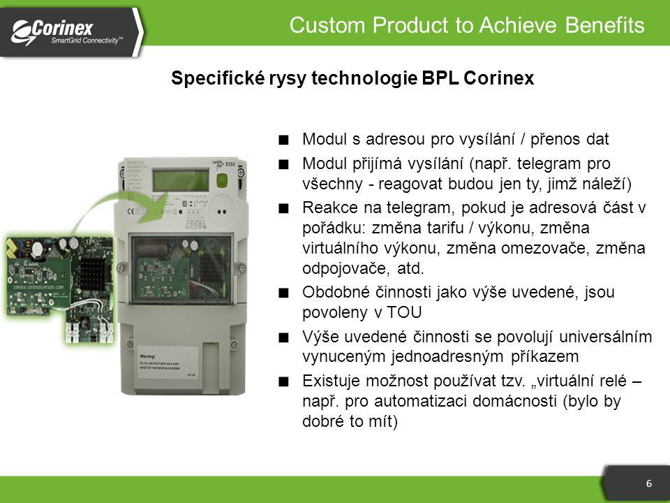 Specifické rysy technologie BPL Corinex