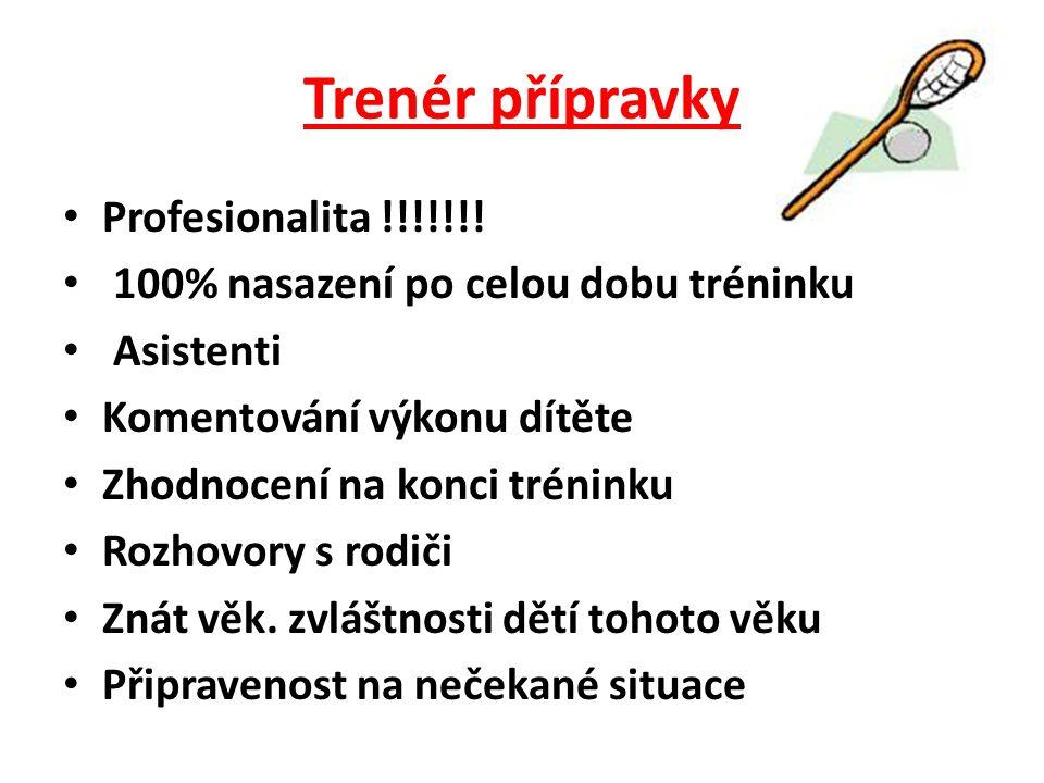 Trenér přípravky Profesionalita !!!!!!!