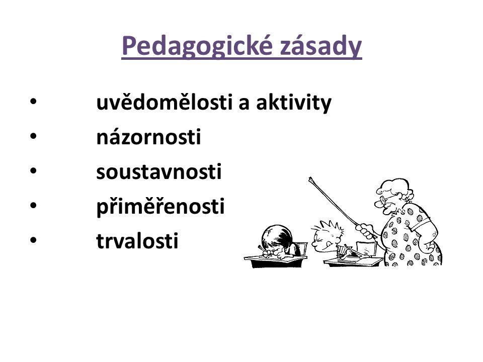 Pedagogické zásady uvědomělosti a aktivity názornosti soustavnosti