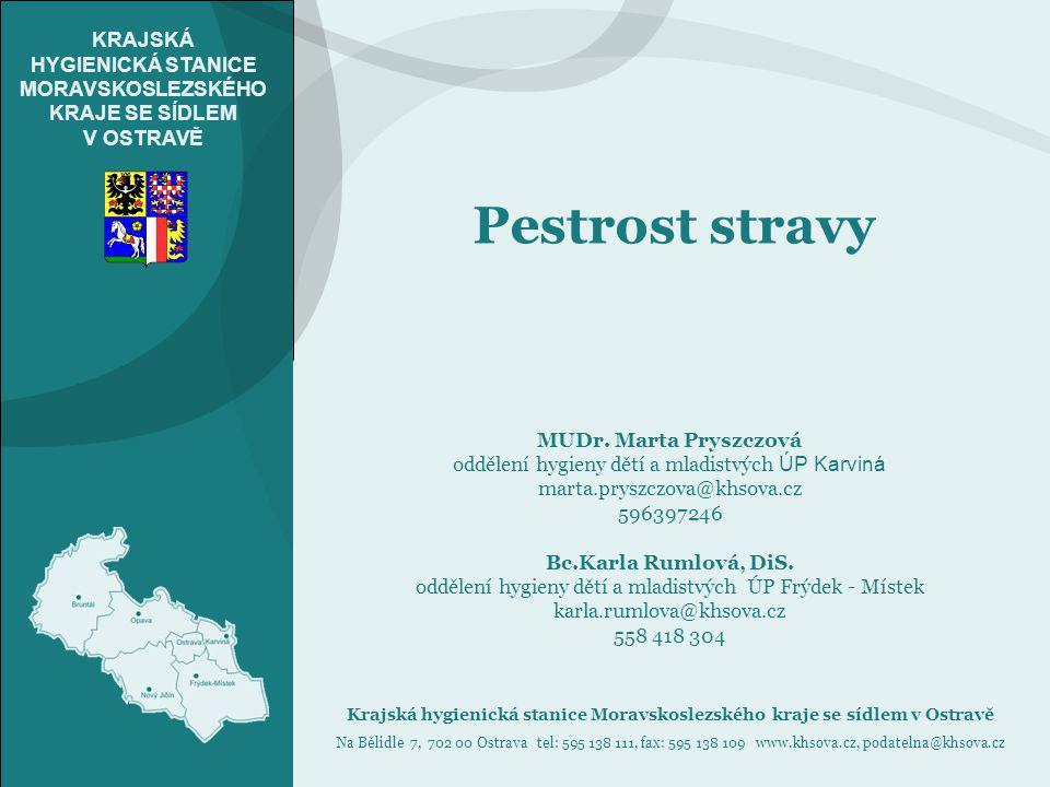 Pestrost stravy MUDr. Marta Pryszczová