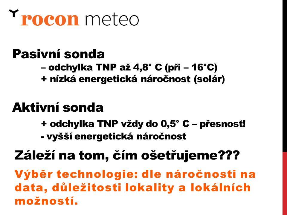 + odchylka TNP vždy do 0,5° C – přesnost!