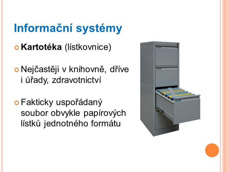 Informační systémy Kartotéka (lístkovnice)