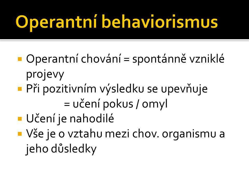 Operantní behaviorismus