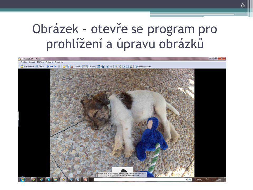 Obrázek – otevře se program pro prohlížení a úpravu obrázků