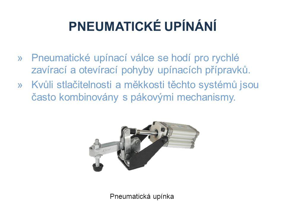 Pneumatické upínání Pneumatické upínací válce se hodí pro rychlé zavírací a otevírací pohyby upínacích přípravků.