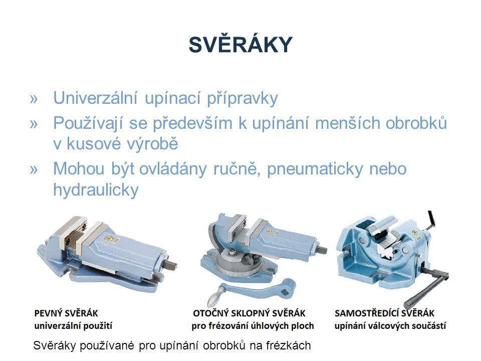 svěráky Univerzální upínací přípravky