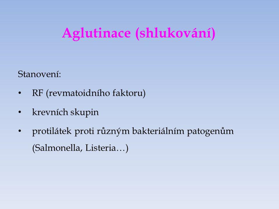 Aglutinace (shlukování)